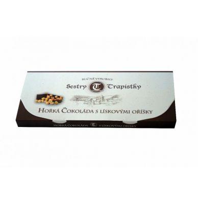 Hořká čokoláda s lískovými oříšky 250 g